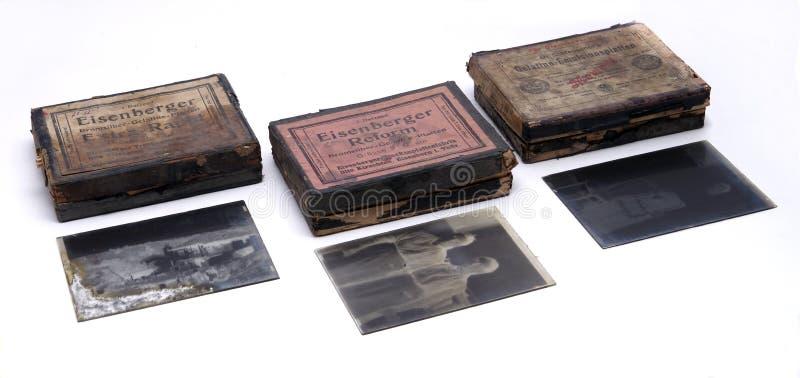 Placas de cristal fotográficas fotografía de archivo libre de regalías