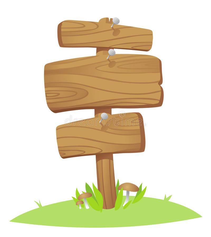 Placas de madeira ilustração stock