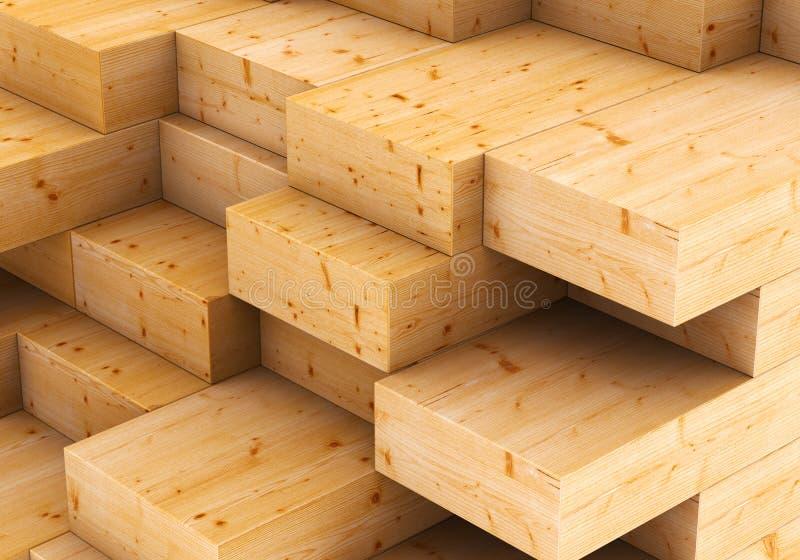 Placas de madeira ilustração royalty free