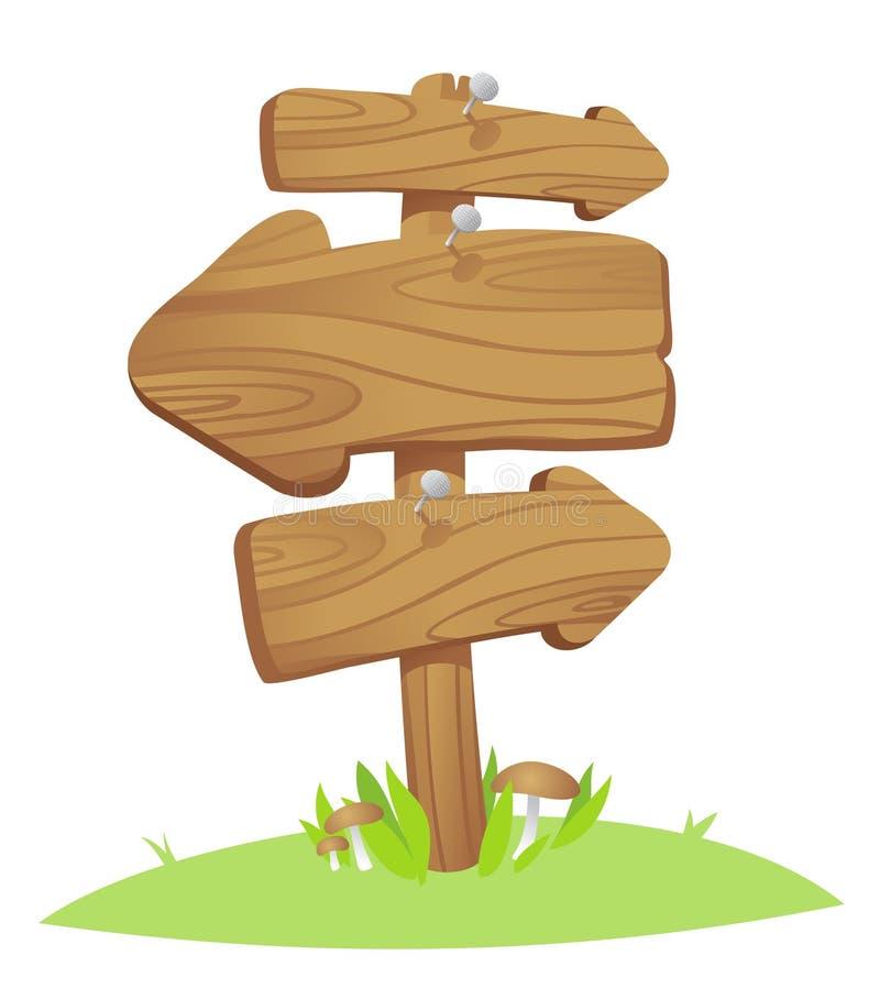 Placas de madeira. ilustração royalty free
