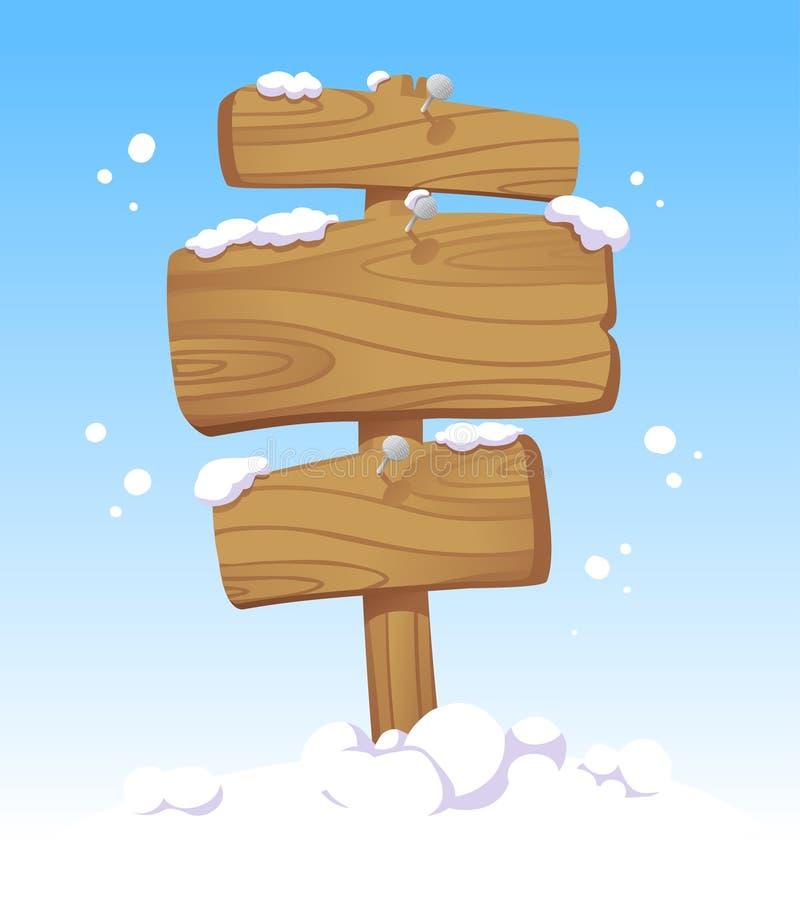 Placas de madeira. ilustração do vetor