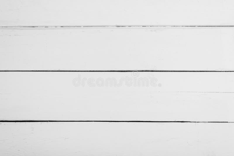Placas de madeira brancas com textura para o fundo Quadro horizontal fotos de stock royalty free