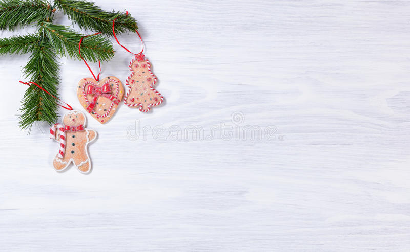 Download Placas De Madeira Brancas Rústicas Com As Decorações Han Da Cookie Do Natal Imagem de Stock - Imagem de verde, madeira: 80100525
