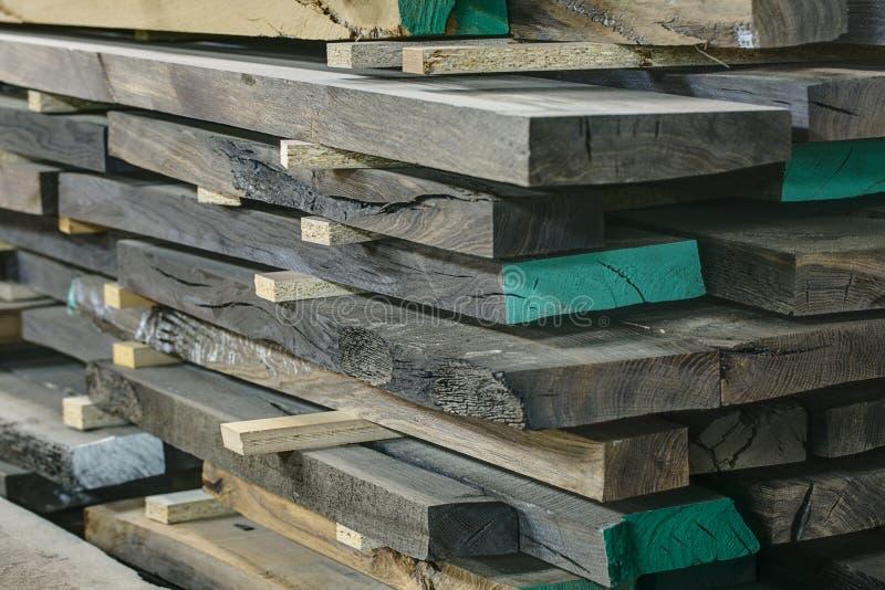 Placas de madeira do carvalho foto de stock royalty free
