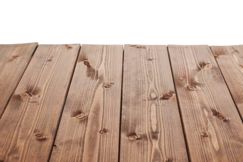 Placas de madeira revestidas da pintura do marrom escuro fotografia de stock royalty free
