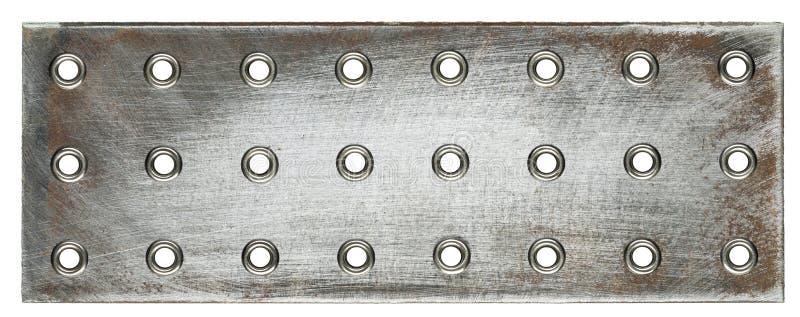 Placas de metal imagem de stock