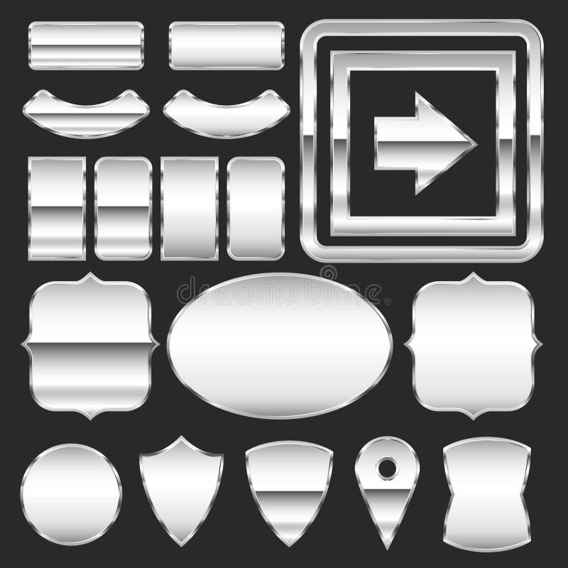 Placas de metal ilustración del vector