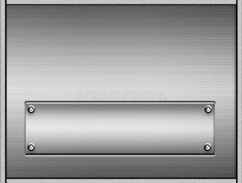 Placas de metal escovadas ilustração stock