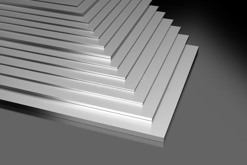 Placas de metal industriales ilustración del vector