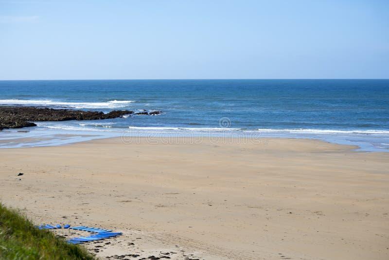 Placas de ressaca no Sandy Beach imagens de stock royalty free