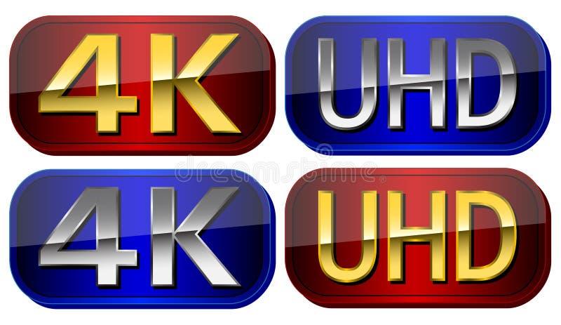 Placas de UltraHD imagen de archivo libre de regalías