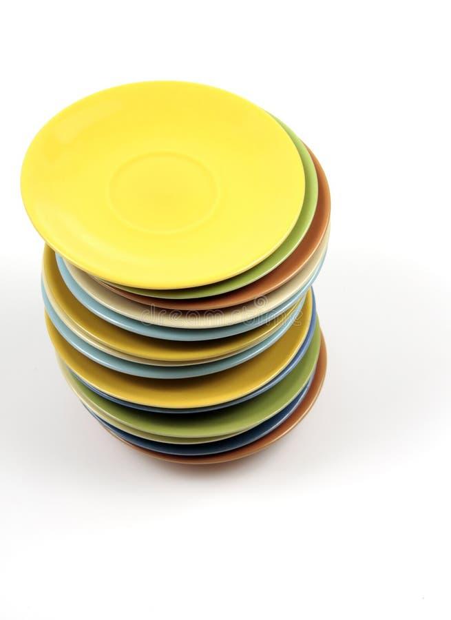 Placas del color fotos de archivo libres de regalías
