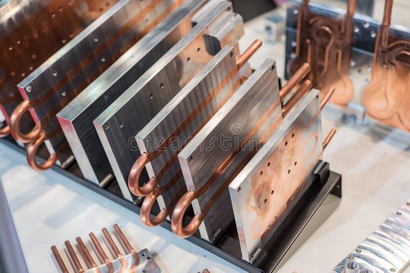 placas do dissipador de calor do Alumínio-cobre para a eletrônica industrial imagens de stock royalty free
