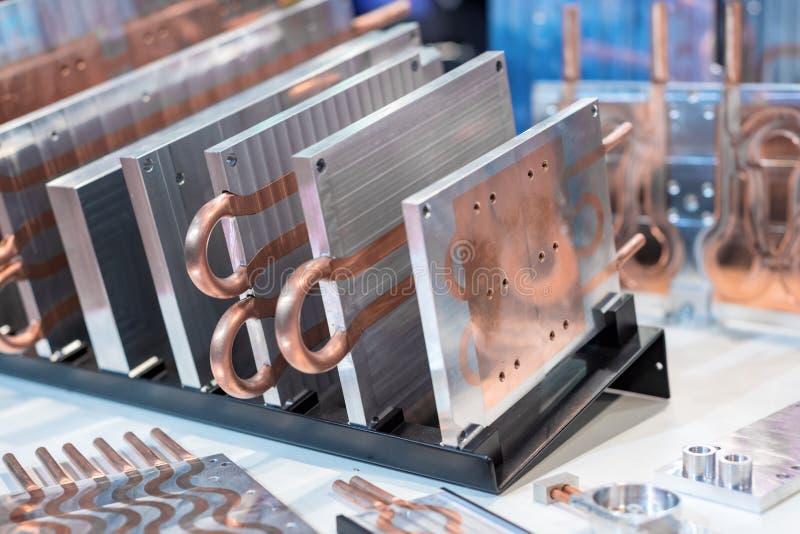 placas do dissipador de calor do Alumínio-cobre para a eletrônica industrial imagens de stock