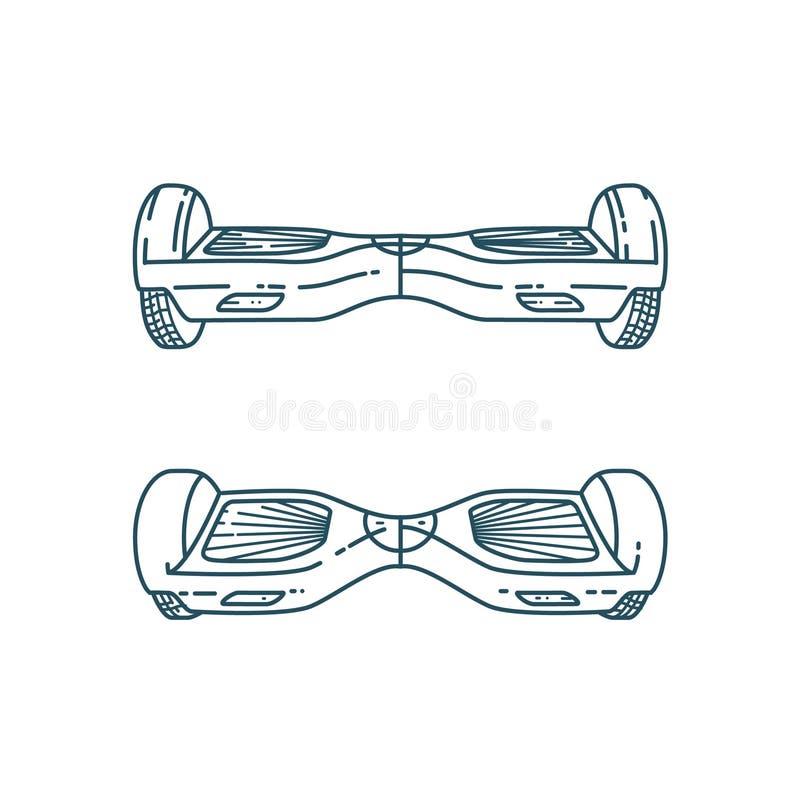 Placas do pairo do vetor no estilo linear ilustração royalty free