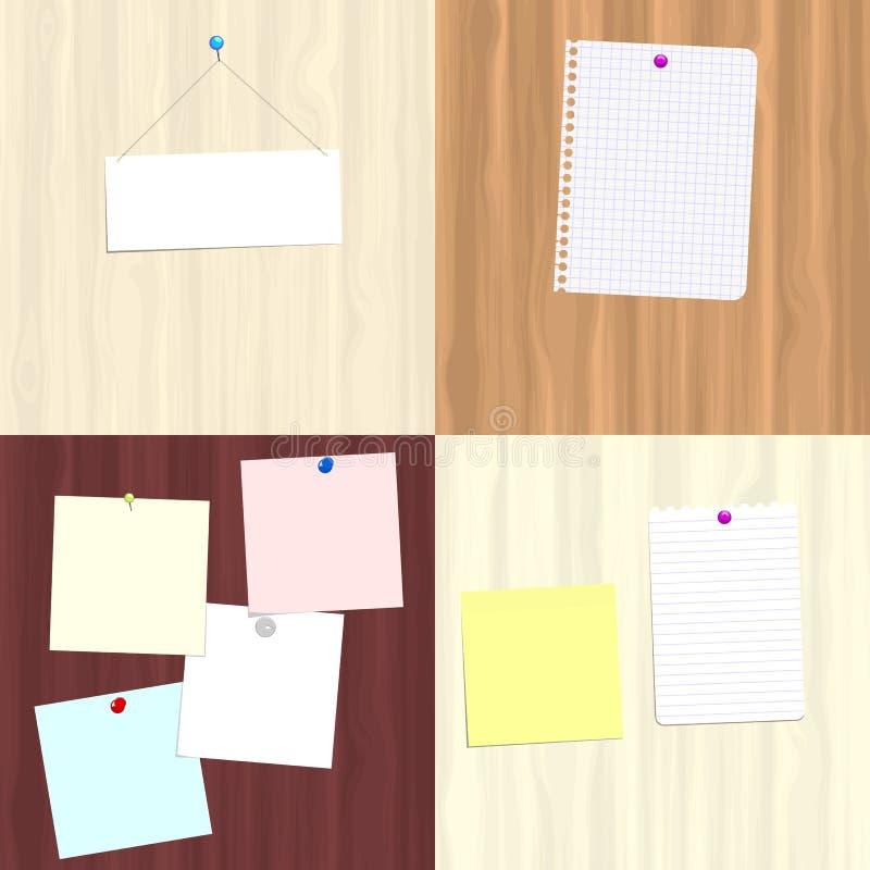 Placas e notas ilustração stock