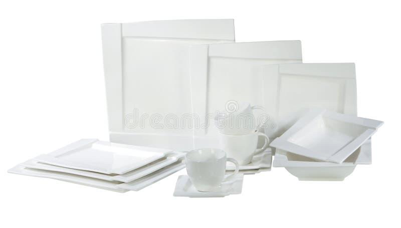 Placas e pratos imagens de stock royalty free