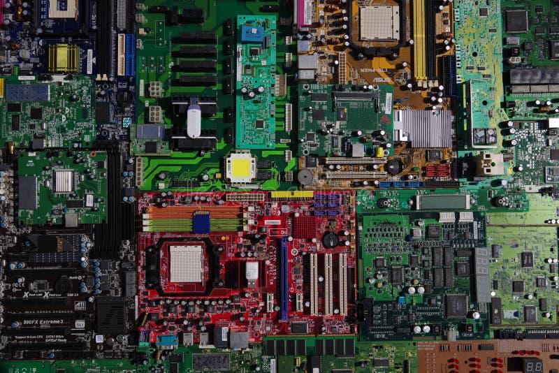 Placas eletrônicas imagens de stock