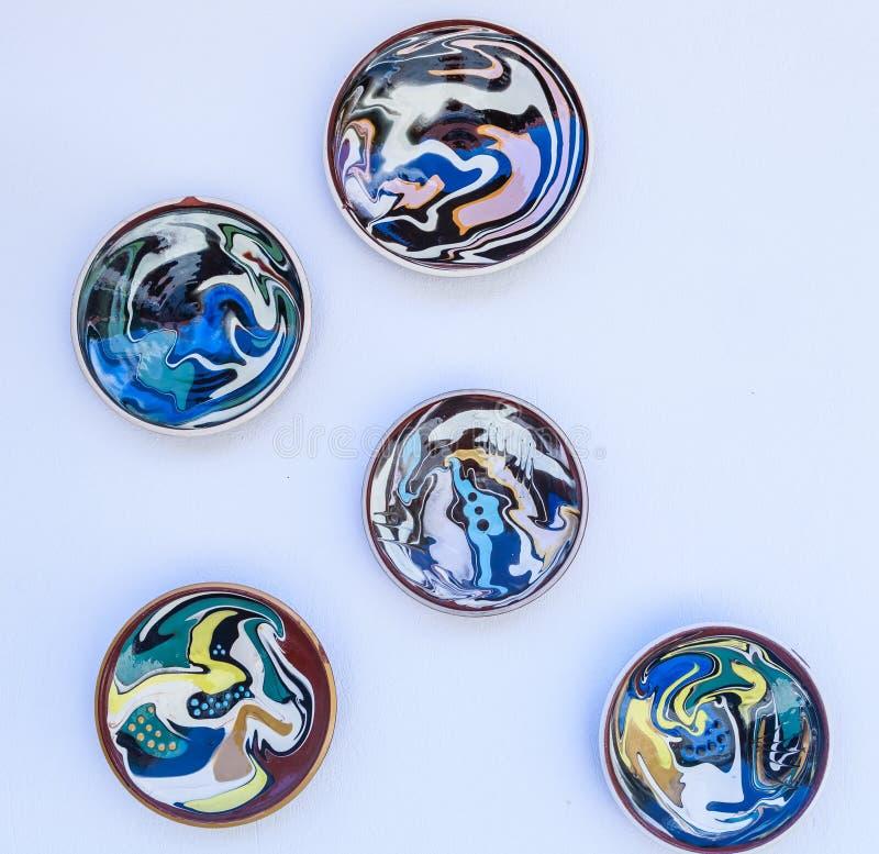 Placas en la pared de la cerámica imagen de archivo libre de regalías