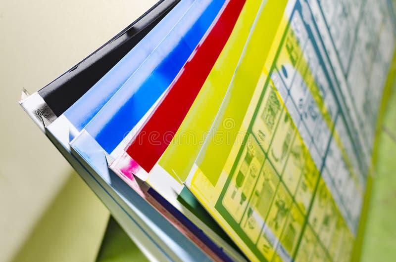 Placas litographic deslocadas usadas da máquina do offset imagens de stock
