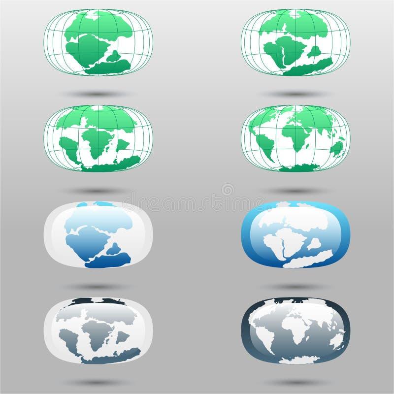 Placas tectónicas en la tierra del planeta continentes y sistema modernos del infographics de estilo plano de los iconos ilustración del vector