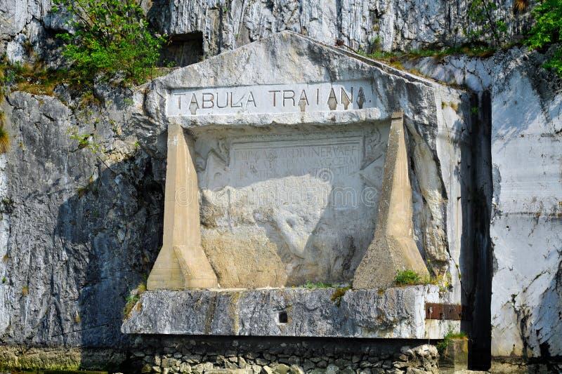 Placca commemorativa romana ?Tabula Traiana ?, la Serbia fotografie stock