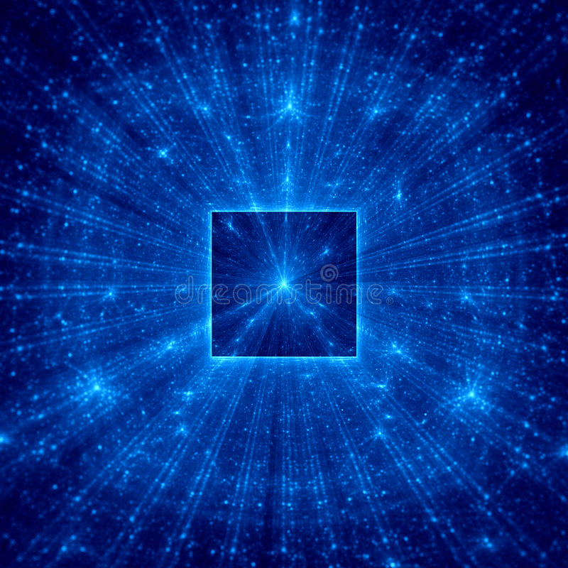 Place abstraite bleue avec les rayons bleus images libres de droits