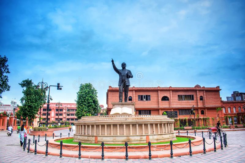 Place Ambedkar à proximité du temple d'or à Amritsar dans le Pendjab image libre de droits
