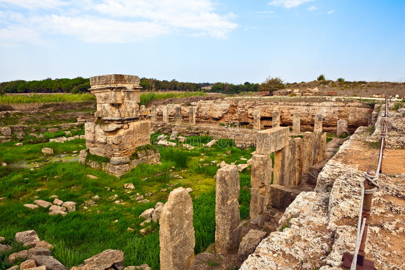 Place antique Amrit de la Syrie - de Tartus image libre de droits