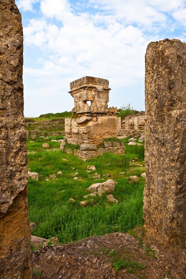 Place antique Amrit de la Syrie - de Tartus images stock
