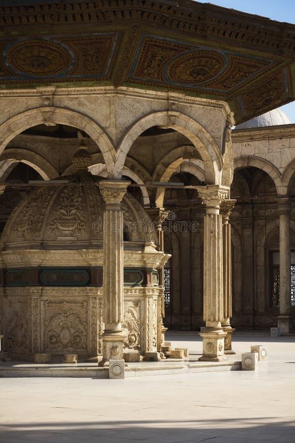 Place au lavage de la mosquée d'albâtre photos libres de droits
