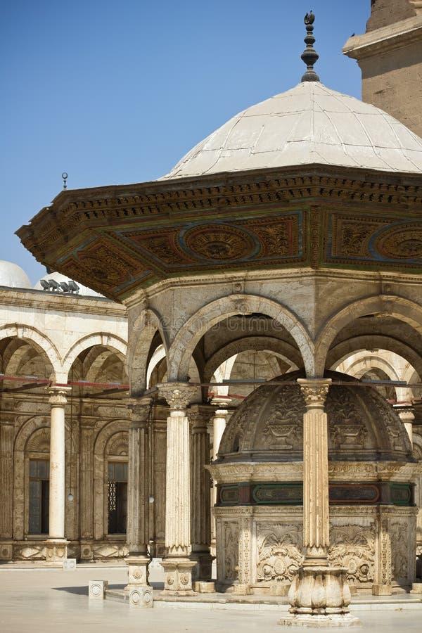 Place au lavage de la mosquée d'albâtre photos stock