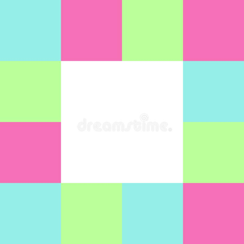 Place blanche vide sur des places bloc à carreaux, arc-en-ciel multi de couleur de contrôleur de bannière de calibre, doux coloré illustration libre de droits