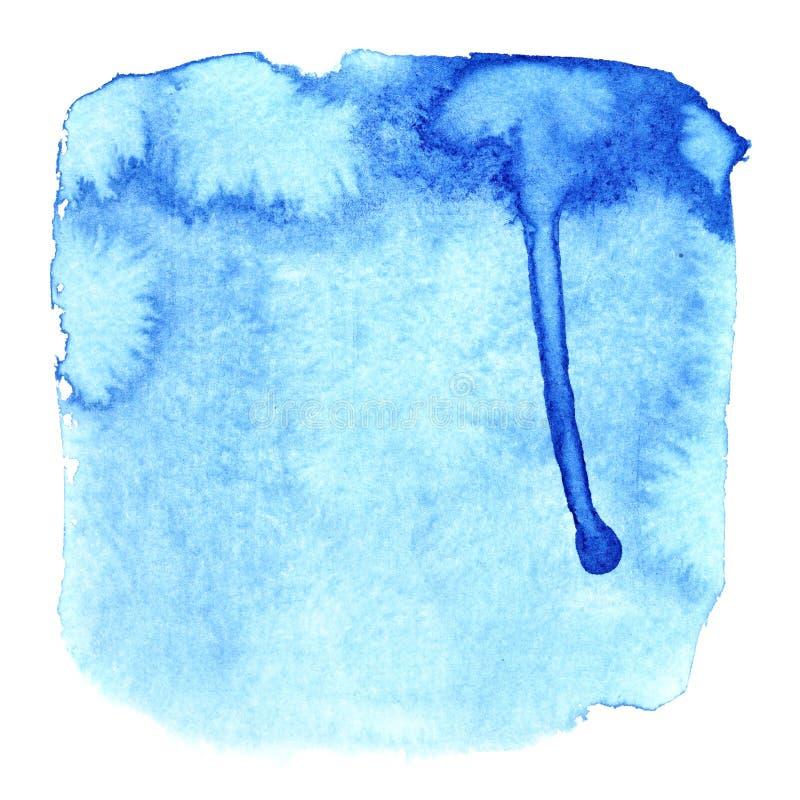 Place bleue avec des taches illustration libre de droits