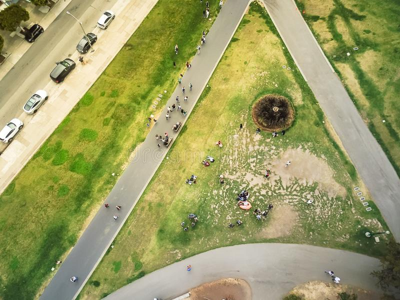 Place célèbre d'Alamo de vue aérienne à San Francisco, la Californie photo libre de droits