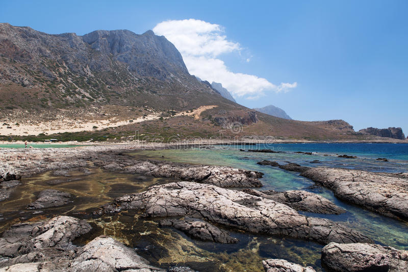 Balos Lagoon Of Crete, Greece Stock Images
