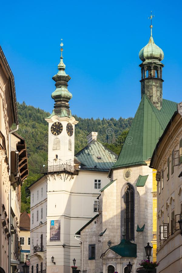 place centrale, Banska Stiavnica, Slovaquie photo stock