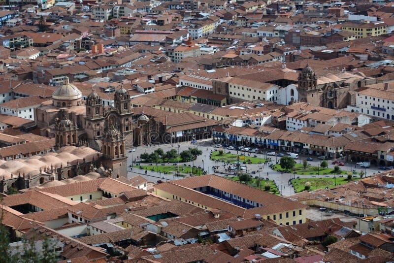 Place centrale dans Cuzco, Plaza de Armas image stock