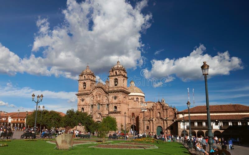 Place centrale dans la ville de Cusco photo libre de droits