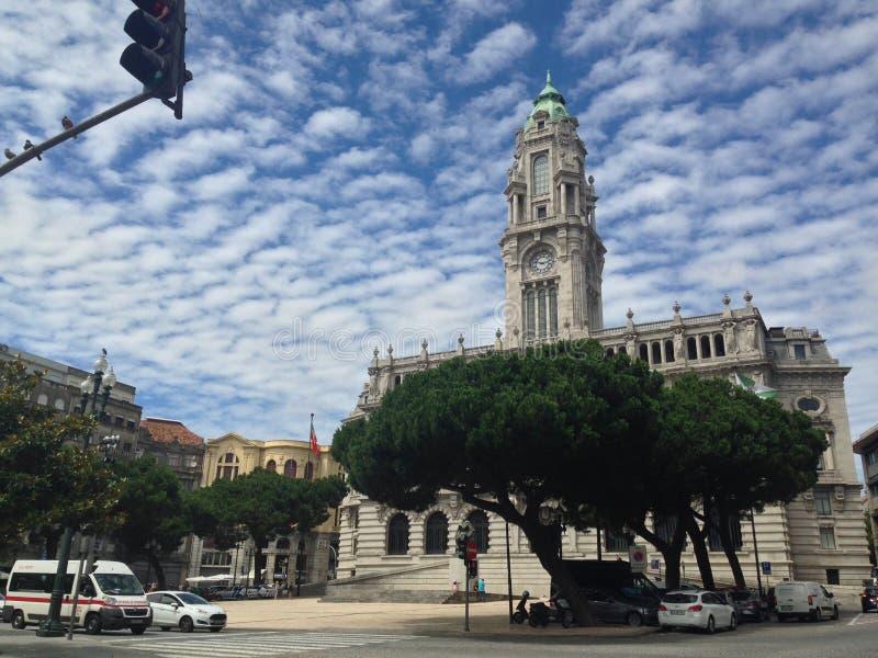 Place centrale de Porto image stock