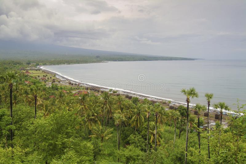 Amed and the East Bali Coastline stock photography