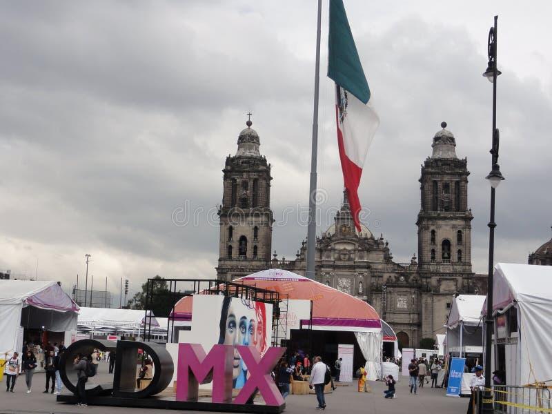 "The place of the Constitution ""Zócalo"" – Ciudad de Mexico - Mexico stock photography"