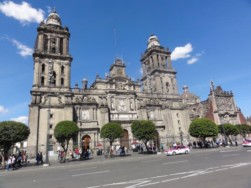 """The place of the Constitution """"Zócalo"""" – Ciudad de Mexico - Mexico. The place of the Constitution in Spanish, Plaza de la Constitución stock image"""