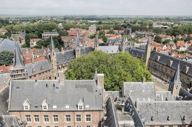 Place d'abbaye de Middelbourg images stock