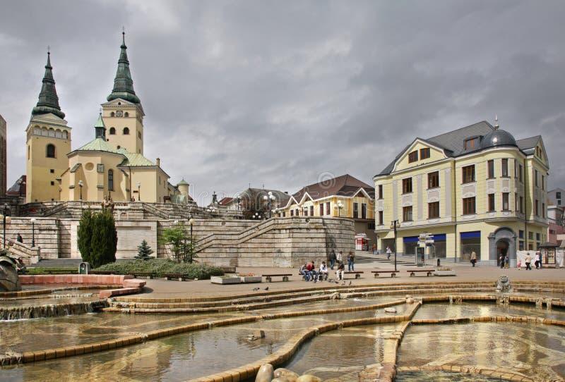 Place d'Andrej Hlinka dans Zilina slovakia photographie stock