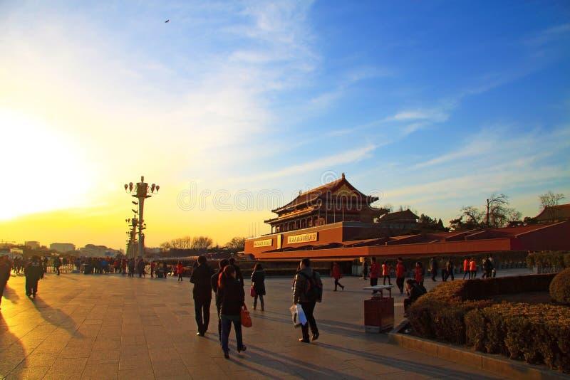 Place d'anmen de Tian photographie stock