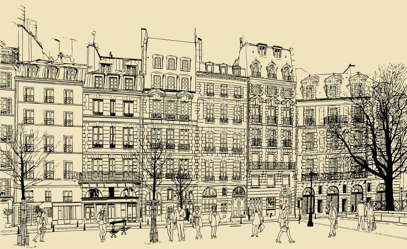 Place Dauphine illustration royalty free illustration
