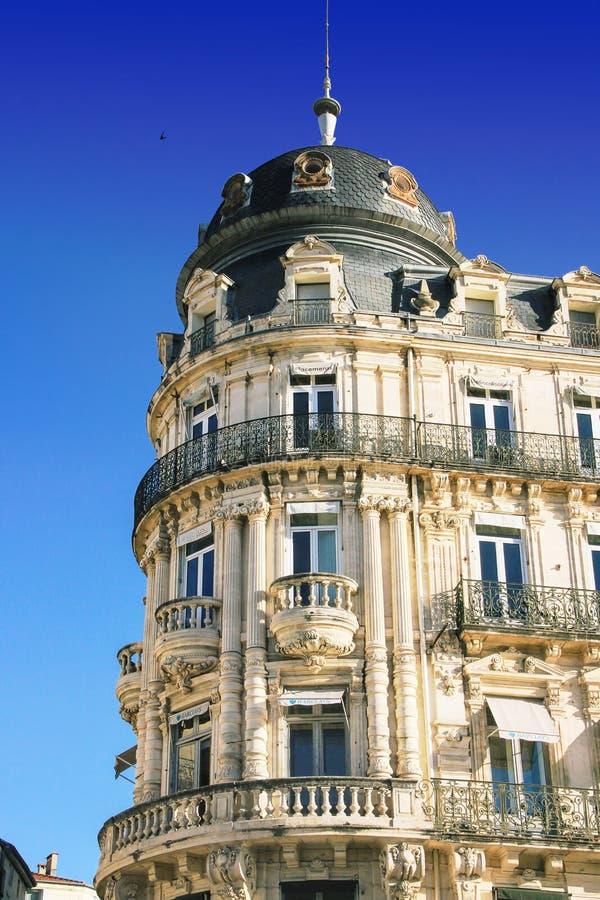 Place de Λα Comedie - τετράγωνο θεάτρων του Μονπελιέ στοκ εικόνες με δικαίωμα ελεύθερης χρήσης
