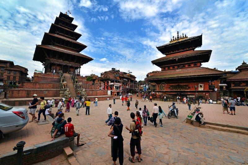 Place de Bhaktapur Durbar, Népal photos libres de droits