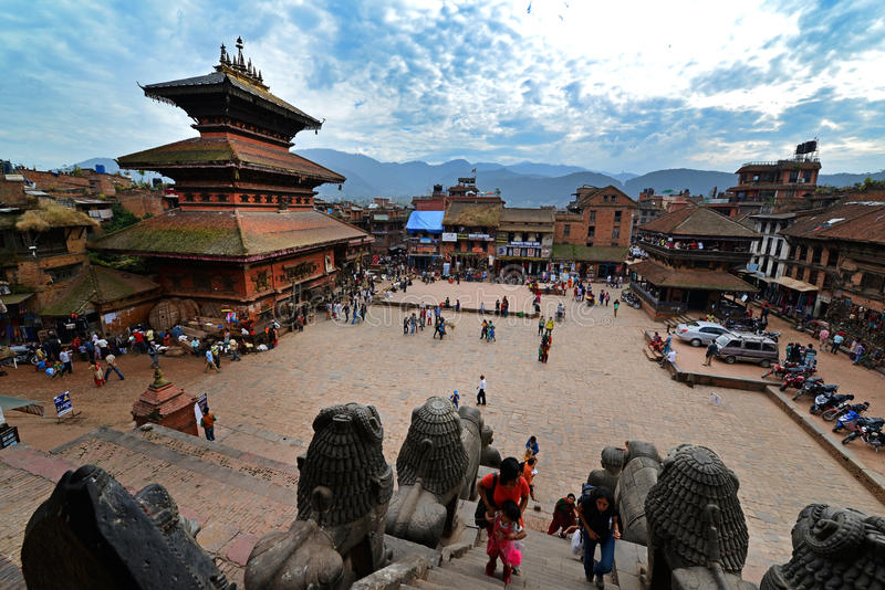 Place de Bhaktapur Durbar, Népal photos stock